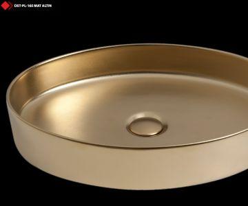 Mat altın lavabo