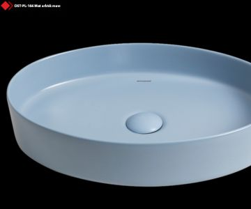 Mavi renkli seramik lavabo modeli