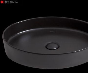 Siyah dekoratif seramik lavabo