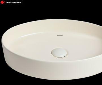 Krem rengi seramik lavabo
