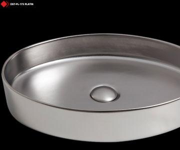 Gümüş renkli lavabo