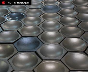 El Yapımı Çukur Hexagon Karo
