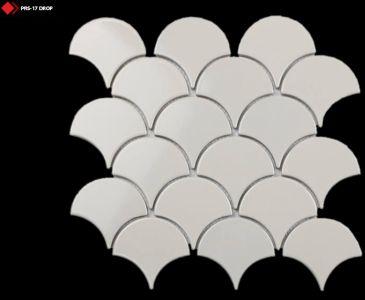 Krem rengi porselen mozaik