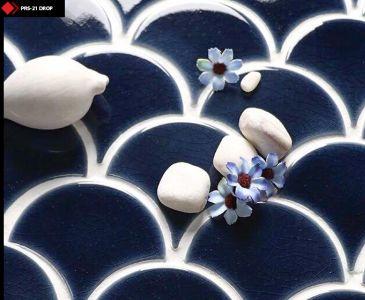 Kobalt rengi porselen karo