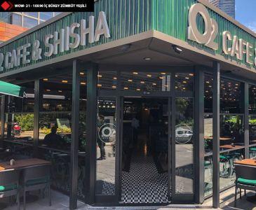 Cafe Dış cephe Yeşil Karo